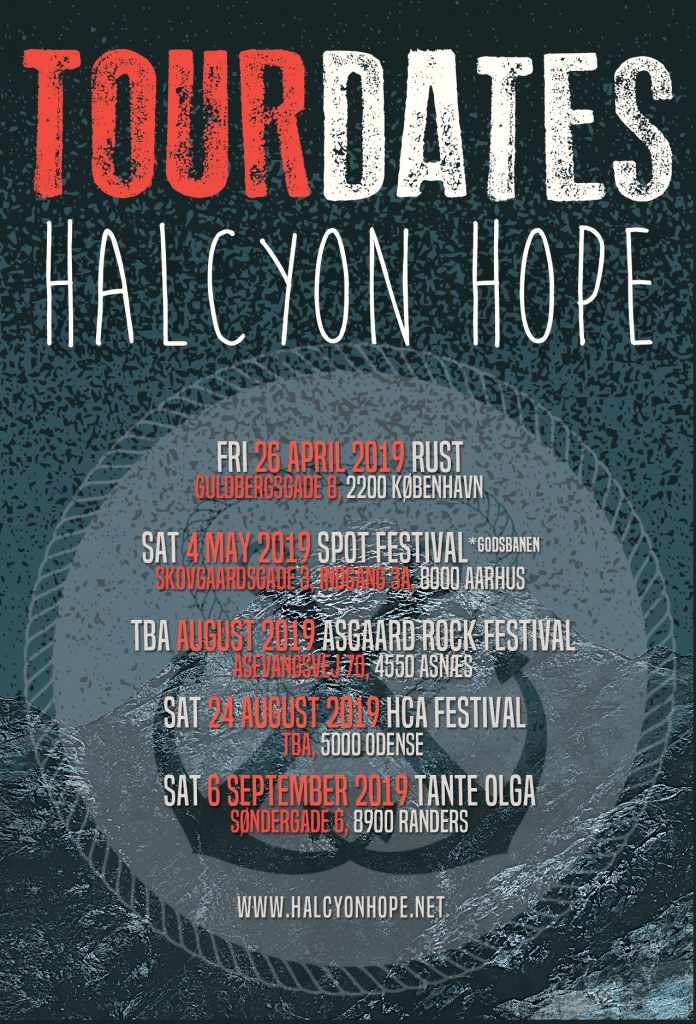 Tour Dates 2019 Halcyon Hope